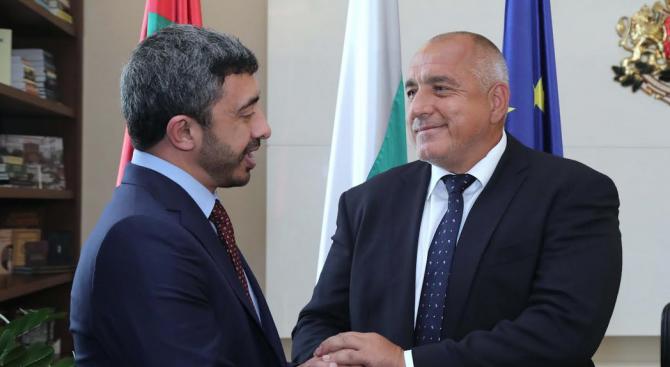 Бойко Борисов се срещна с министъра на външните работи и международното сътрудничество на ОАЕ