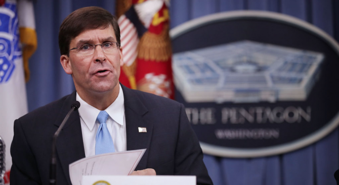 Тръмп ще номинира Марк Еспър за нов и.д. министър на отбраната на САЩ
