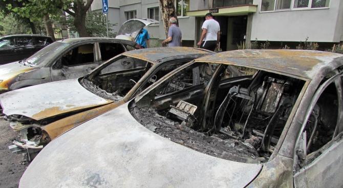 Опожариха пет коли в Русе