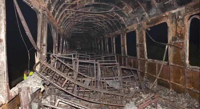 Прокуратурата разследва причините за пожарa в бързия влак Варна - София