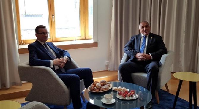 Борисов разговаря и с премиера на Полша Матеуш Моравецки