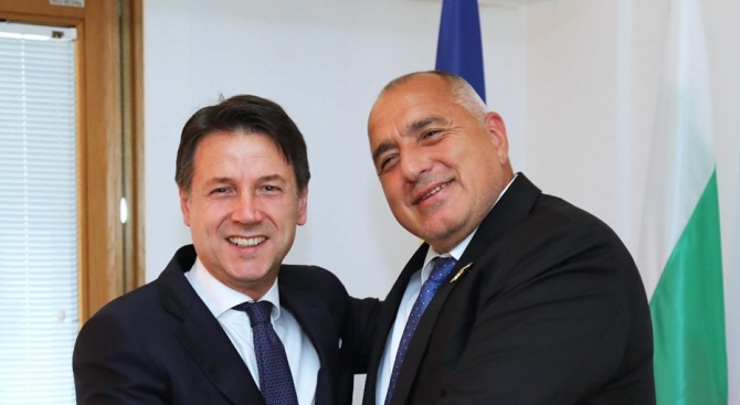 Бойко Борисов проведе двустранна среща и с премиера на Италия Джузепе Конте
