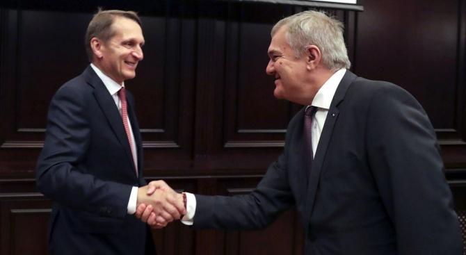 Румен Петков се срещна в Москва с председателя на Руското историческо общество и с ректора на Държавния университет