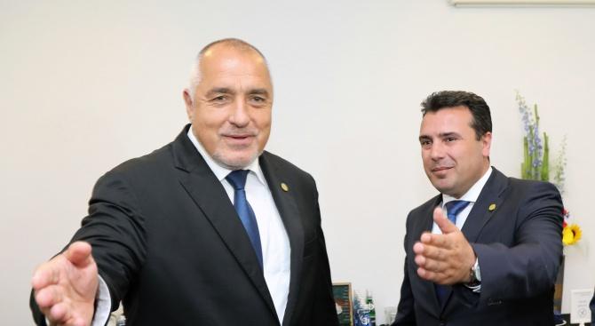 Борисов разговаря с македонския си колега Зоран Заев