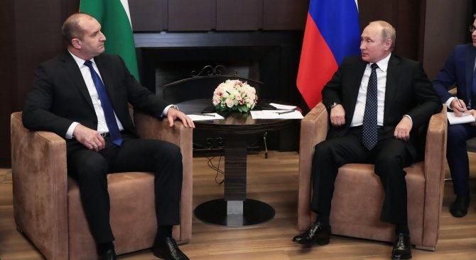 Румен Радев с поздравителен адрес до Владимир Путин