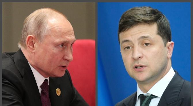 Путини Зеленски с първи телефонен разговор