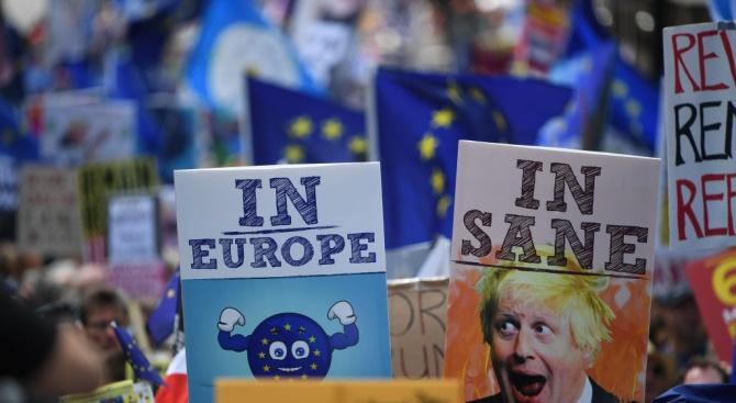 """В Лондон скандираха """"Не на Борис, Да на Европа"""""""