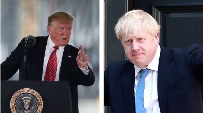 Истински или престорени приятели са Доналд Тръмп и Борис Джонсън?