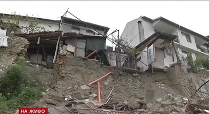 Свлачище застрашава къщи в старата част на Велико Търново