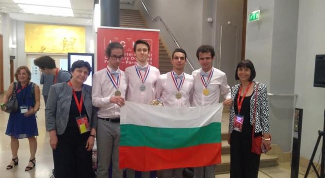 Злато, сребро и два бронза спечелиха български ученици от Международната олимпиада по химия