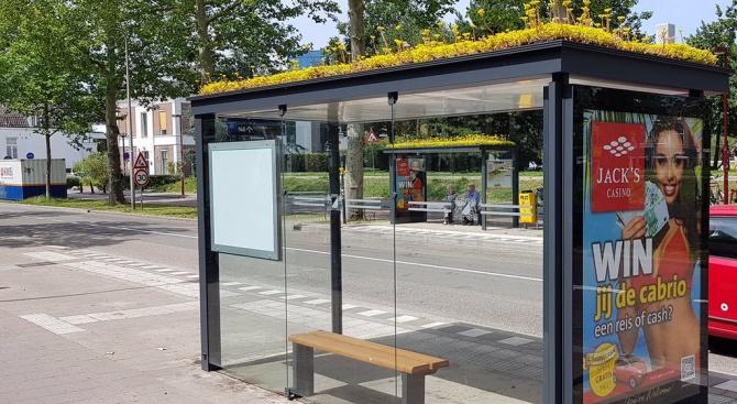 Холандия превърна 300 автобусни спирки в дом за пчели
