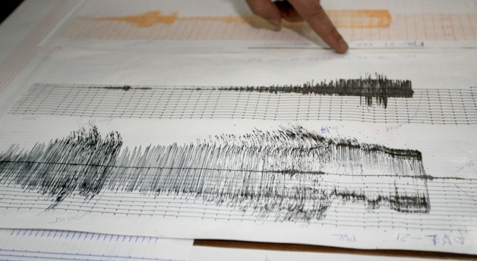 Земетресение с магнитуд 4,8 разлюля Измир