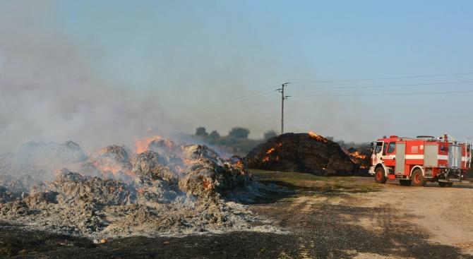 Пожар изпепели бали за 20 000 лева в Симеоновградско