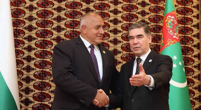 Бойко Борисов: Отношенията между България и Туркменистан са важни и перспективни