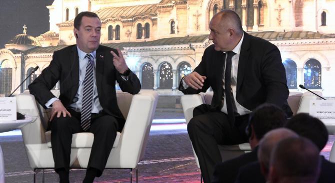 Борисов и Медведев обсъждат доставки на туркменски газ