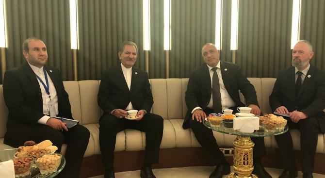 Борисов разговаря с първия вицепрезидент на Ислямска република Иран Есхаг Джахангири