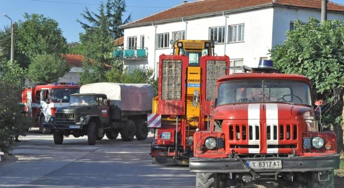 Пожарът край хасковските села се възобнови