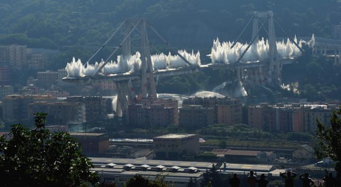 """Италианската прокуратура: Рухналият мост """"Моранди"""" не е бил поддържан от 25 години"""