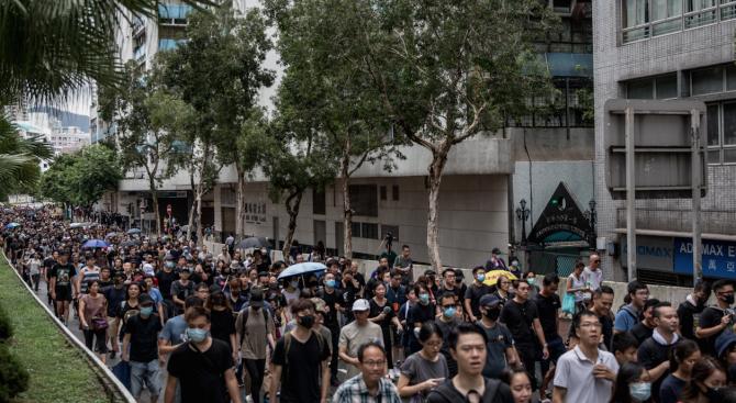 Десетки хиляди се включиха в протест в Хонконг