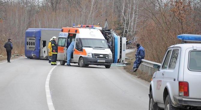 """Катастрофа на АМ """"Хемус"""" край Девня: Един човек е пострадал"""