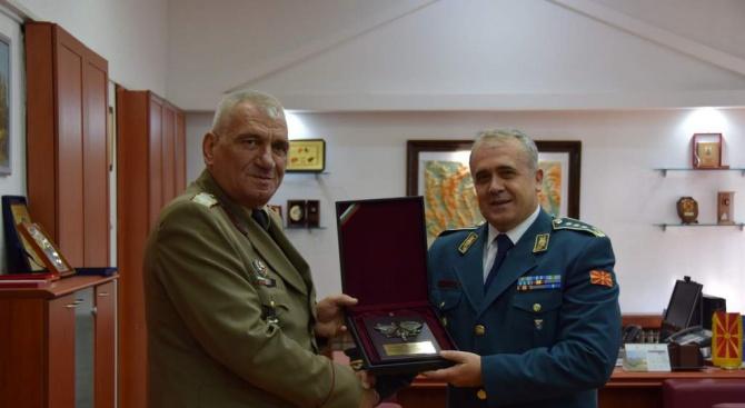 Ген. Андрей Боцев беше на официално посещение в Република Северна Македония