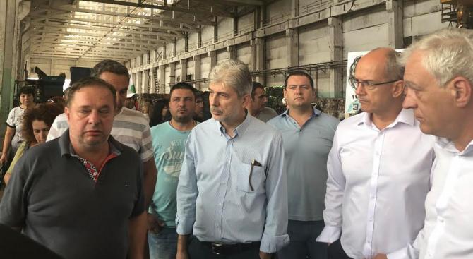 Нено Димов обеща на протестиращите глоба до 500 000 лева за завода в Шишманци