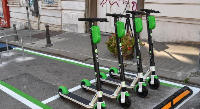 Започнаха да крадат електрическите тротинетки, които се отдават под наем в София