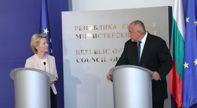 Урсула фон дер Лайен преди срещата с Борисов: В Европа можем да успеем само ако обединим усилията си