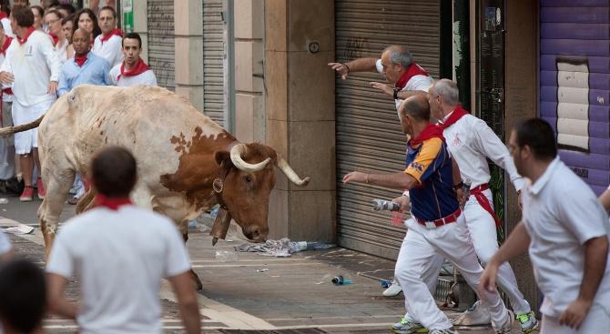 Бик уби мъж по време на испански фестивал