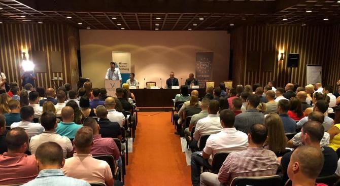 МГЕРБ участваха в дискусия с председателя на младежката организация на Националната либерална партия в Румъния Мара Мареш