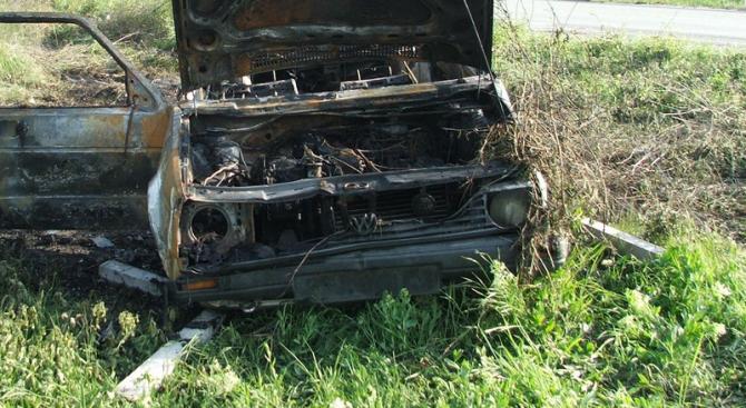 Кола пламна по време на движение в района на село Мрахори