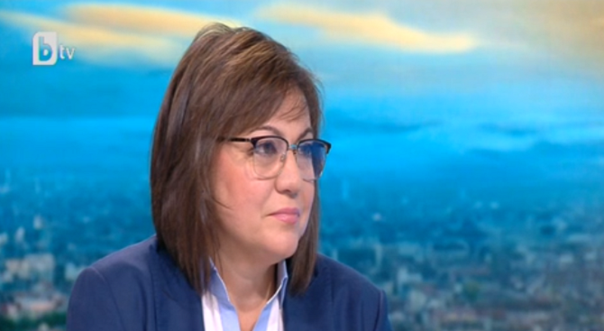Корнелия Нинова: Харесвам Манолова, решаваме на 11 септември дали ще я подкрепим
