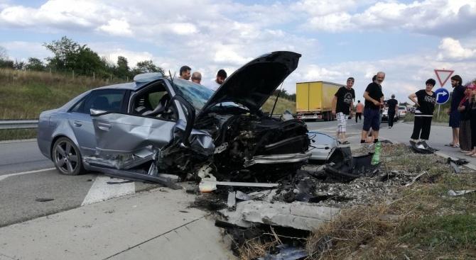 Катастрофа на пътя Димитровград – Крум – Ябълково, има ранен