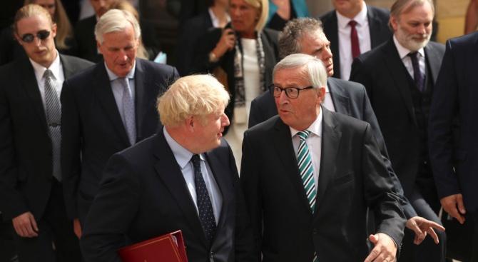 Жан-Клод Юнкер: Брекзит разговорите с Борис Джонсън преминаха добре