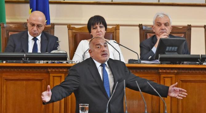 Бойко Борисов ще участва в парламентарния контрол утре