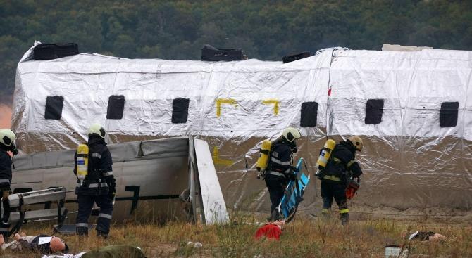 Спасяване при самолетна катастрофа се разигра на плаж във Варна
