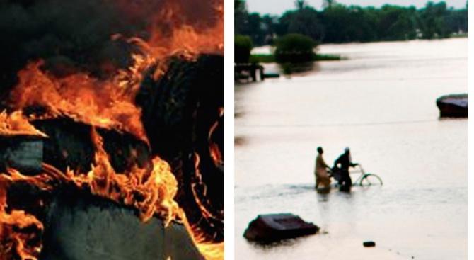 Загреб: Пожар и потоп за ден