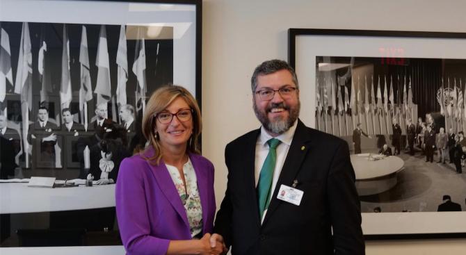 Екатерина Захариева се срещна с министъра на външните работи на Бразилия