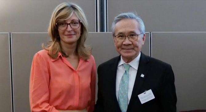 Екатерина Захариева се срещна с колегата си от Тайланд