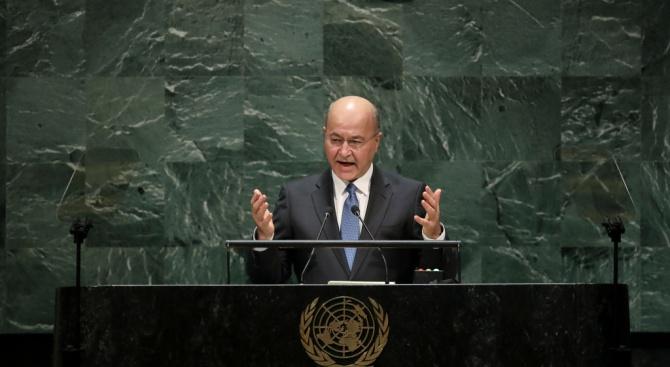 Президентът на Ирак заяви, че страната му няма да е терен за чужди войни