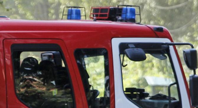 Товарен автомобил горя в плевенско село