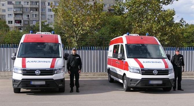Медицинският институт на МВР добави към автопарка си две нови линейки с модерно оборудване