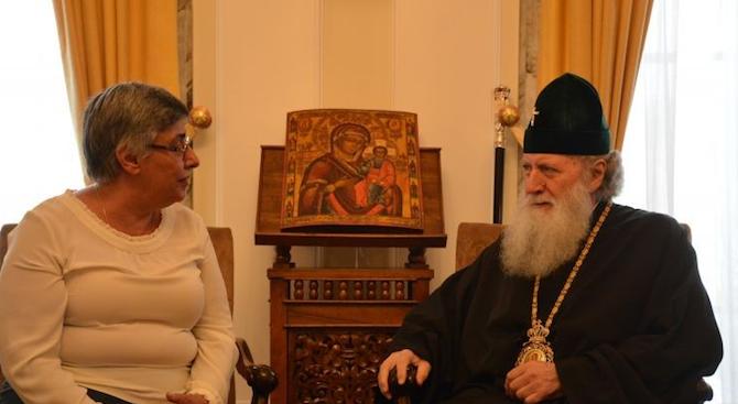 Патриарх Неофит се срещна с председателя на Съюза на учените в България проф. Диана Петкова