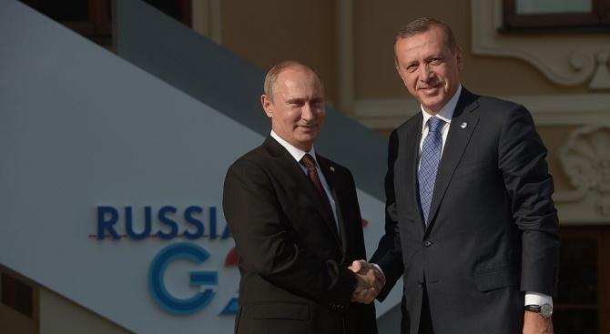 Путин предупреди Ердоган да не вреди на мирния процес в Сирия
