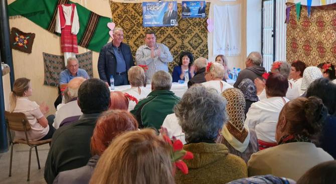 Кандидатът за кмет на Община Видин от ПП ГЕРБ Огнян Ценков се срещна с жители на село Сланотрън