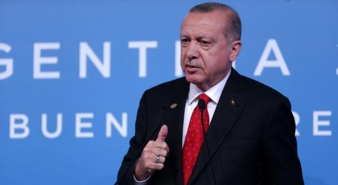 Ердоган: Турция никога няма да обяви примирие в Северна Сирия