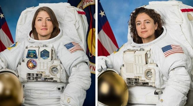 Астронавтките Кристина Кук и Джесика Миър излязоха в открития Космос
