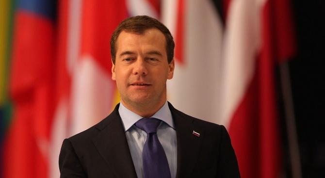 Медведев: Русия е готова да помогне на Сърбия за запазване на суверенитета