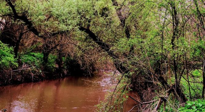 Цветни води с неприятна миризма се изливат в река Русенски Лом