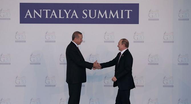 Ето за какво ще си говорят Владимир Путин и Реджеп Ердоган днес